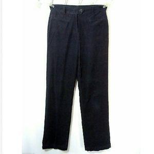 LANDS END Corduroy Pants sz 8 Type 3 fit Navy Blue